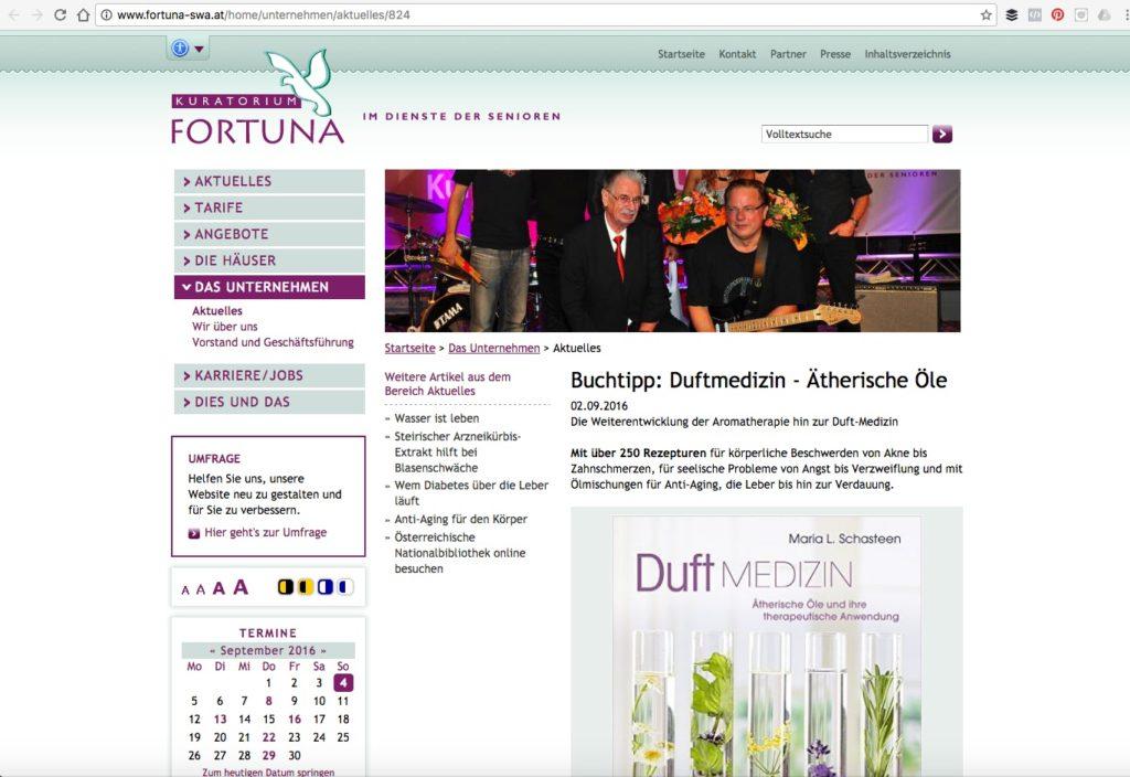 Duftmedizin auf Fortuna